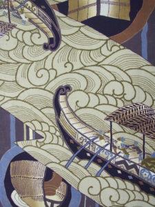 【南蛮船】錦紗縮緬 長襦袢