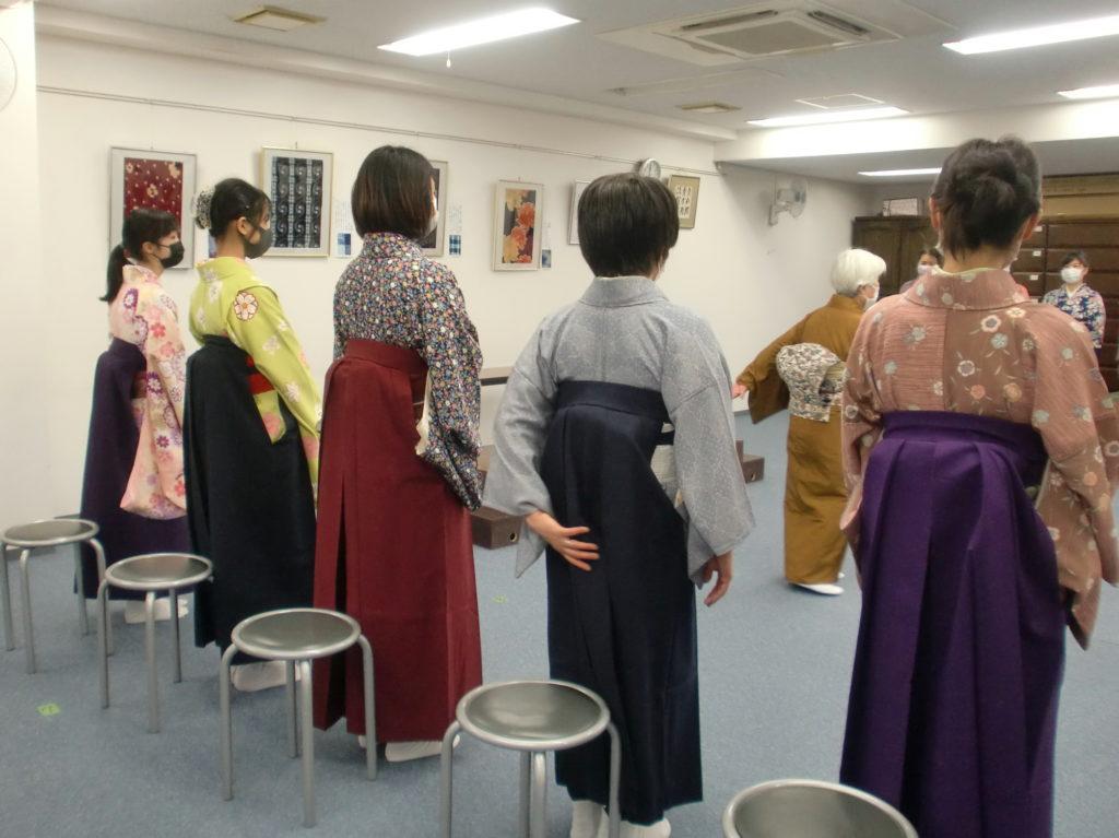 女袴着つけ講習会